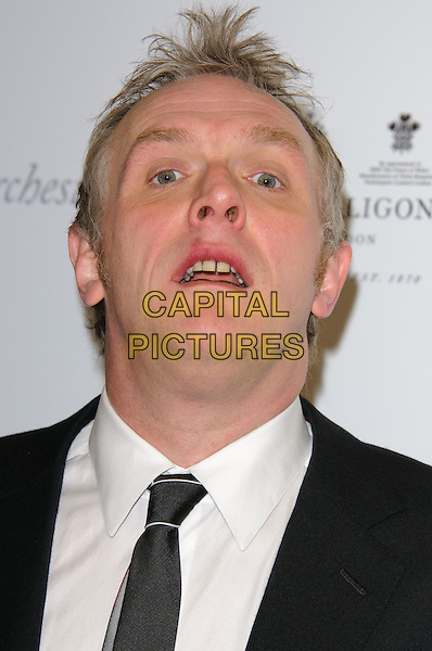 GREG DAVIES .Attending the South Bank Sky Arts Awards, The Dorchester Hotel, London, England, UK, 25th January 2011..portrait headshot black tie white shirt mouth open funny .CAP/CJ.©Chris Joseph/Capital Pictures.