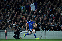 France's Remy Grosso races for the tryline during the Steinlager Series international rugby match between the New Zealand All Blacks and France at Eden Park in Auckland, New Zealand on Saturday, 9 June 2018. Photo: Dave Lintott / lintottphoto.co.nz