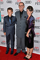 LOS ANGELES, CA. November 09, 2018: Dimiter Marinov, Jennifer Mariov &amp; Yordan Marinov at the AFI Fest 2018 world premiere of &quot;Green Book&quot; at the TCL Chinese Theatre.<br /> Picture: Paul Smith/Featureflash