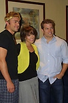 OLTL's John-Paul Lavoisier, Farah Fath and Austin Williams at the One Life To Live Fan Club Luncheon on August 16, 2008 at the New York Marriott Marquis, New York, New York.  (Photo by Sue Coflin/Max Photos)