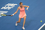 Magdalena Rybarikova of Slovakia hits a return during the singles Round Robin match of the WTA Elite Trophy Zhuhai 2017 against Kristina Mladenovic of France at Hengqin Tennis Center on November  01, 2017 in Zhuhai, China.Photo by Yu Chun Christopher Wong / Power Sport Images