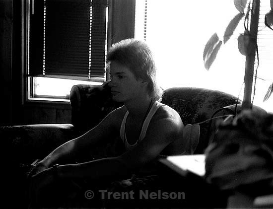 Alex Van Valin Sitting around our apartment after Jill arrived. &amp;#xA;<br />