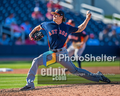 28 February 2017: Houston Astros pitcher Ashur Tolliver on the mound during the Spring Training inaugural game against the Washington Nationals at the Ballpark of the Palm Beaches in West Palm Beach, Florida. The Nationals defeated the Astros 4-3 in Grapefruit League play. Mandatory Credit: Ed Wolfstein Photo *** RAW (NEF) Image File Available ***