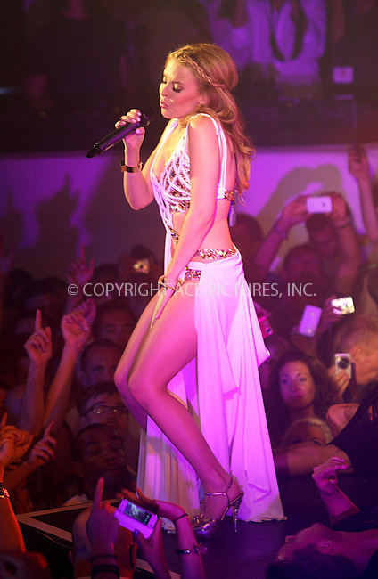 WWW.ACEPIXS.COM . . . . .  ..... . . . . US SALES ONLY . . . . .....Singer Kylie Minogue live at Pacha on July 5 2010 in Ibiza....Please byline: FAMOUS-ACE PICTURES... . . . .  ....Ace Pictures, Inc:  ..tel: (212) 243 8787 or (646) 769 0430..e-mail: info@acepixs.com..web: http://www.acepixs.com