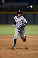 AZL White Sox designated hitter Nick Madrigal (7) hustles to third base during an Arizona League game against the AZL Cubs 2 at Sloan Park on July 13, 2018 in Mesa, Arizona. The AZL Cubs 2 defeated the AZL White Sox 6-4. (Zachary Lucy/Four Seam Images)