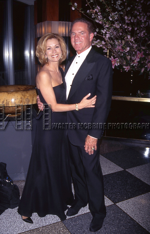 Frank Gifford and Kathie Lee Gifford attend Rainbow & Stars on 4/18/1996  in New York City.