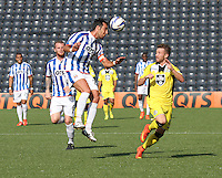 Manuel Pascali heads clear in the Kilmarnock v St Mirren Scottish Professional Football League Premiership match played at Rugby Park, Kilmarnock on 13.9.14.