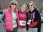 Elizabeth and Sarah O'Grady and Kerry Sheridan who took part in the Saint Vincent de Paul sponsored 5Km run. Photo: Colin Bell/pressphotos.ie