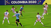 ARMENIA, COLOMBIA - JANUARY 19: Uruguay against Paraguay during their CONMEBOL Pre-Olympic soccer game at Centenario Stadium on January 19, 2020 in Armenia, Colombia. (Photo by Daniel Munoz/VIEW press/Getty Images)