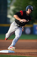 Richmond Flying Squirrels third baseman Christian Arroyo (22) running the bases during a game against the Erie SeaWolves on May 27, 2016 at Jerry Uht Park in Erie, Pennsylvania.  Richmond defeated Erie 7-6.  (Mike Janes/Four Seam Images)