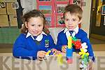 Killocrim Twins: Twins Sophie & Conor Stack on their first day at Killocrim NS.