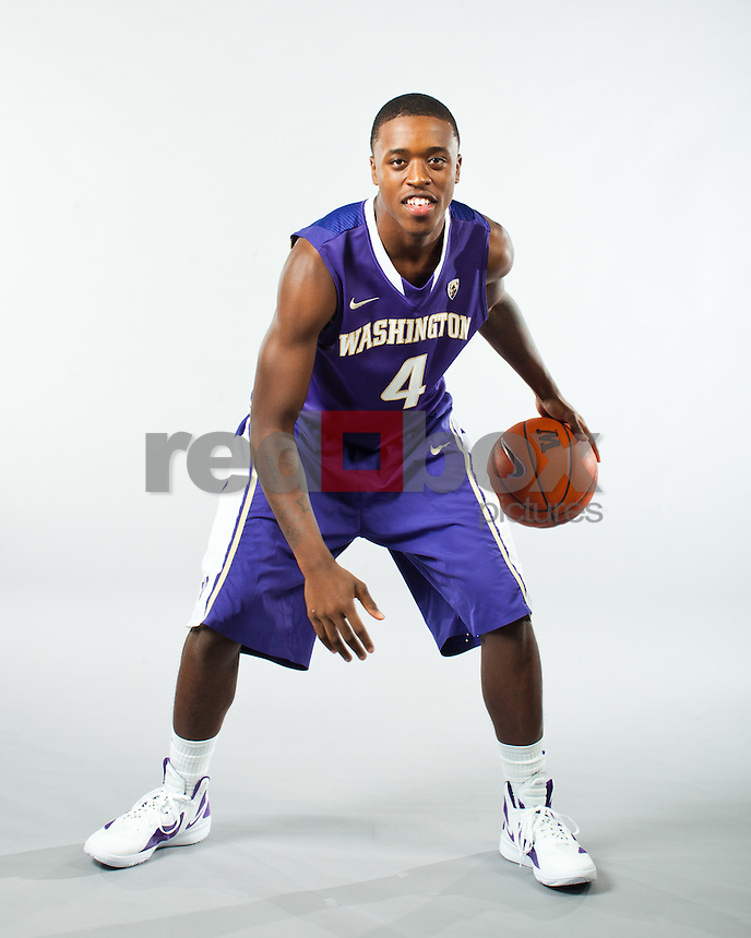 Hikeem Stewart---Washington Huskies men's basketball team photo shoot on Monday, October 10, 2011. (Photo by Dan DeLong/Red Box Pictures)