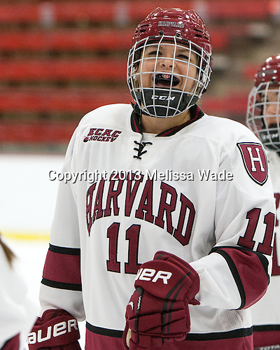 Robyn White (Harvard - 11) - The Harvard University Crimson defeated the visiting Princeton University Tigers 4-0 on Saturday, October 26, 2013, at Bright-Landry Hockey Center in Cambridge, Massachusetts.