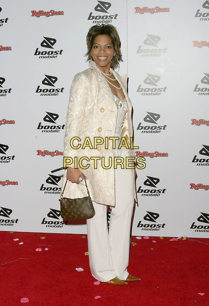 MONICA MOORE.Kanye West  Post Grammy Party hosted by Boost Mobile and Dave Meyers. Los Angeles, California..February 13th, 2005.Photo Credit: Zach Lipp/AdMedia.full length louis vuitton bag purse cream embroidered jacket.www.capitalpictures.com.sales@capitalpictures.com.© Capital Pictures.