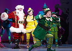 Wayne Knight, Leslie Kritzer & Jordan Gelber during the First Performance Curtain Call of the Broadway Holiday Hit Musical 'Elf'  at the Al Hirschfeld  Theatre in New York City on 11/09/2012