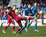 St Johnstone v Aberdeen&hellip;15.04.17     SPFL    McDiarmid Park<br />Shay Logan and Joe Shaughnessy<br />Picture by Graeme Hart.<br />Copyright Perthshire Picture Agency<br />Tel: 01738 623350  Mobile: 07990 594431