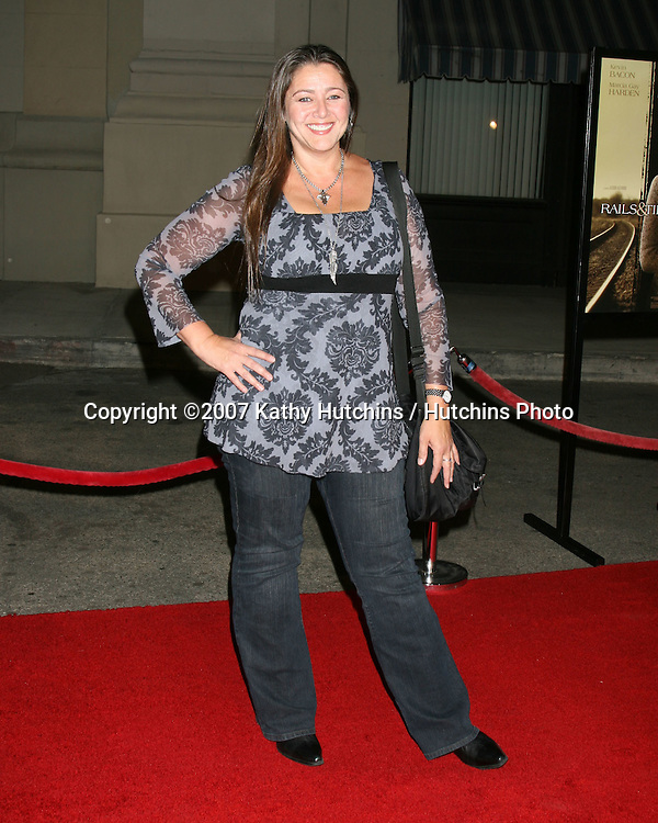 "Camryn Manheim.""Rails & Ties"" Premiere.Stephen J. Ross Theater.Warner Brothers Lot.Burbank,  CA.October 23, 2007.©2007 Kathy Hutchins / Hutchins Photo...               ."