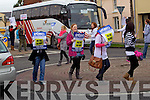 Student Nurses Protesting against cutting off payment for forth year nursing students at Kerry General Hospital on Wednesday.