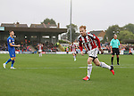 Sheffield United's Mark Duffy celebrates scroring his sides opening goal during the League One match at the Kingsmeadow Stadium, London. Picture date: September 10th, 2016. Pic David Klein/Sportimage