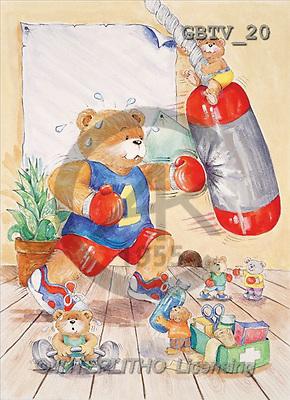 CUTE ANIMALS, paintings, animal, boxing(GBTV20,#AC#) illustrations, pinturas ,everyday