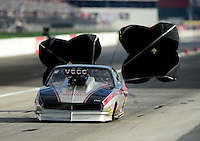 Aug. 31, 2012; Claremont, IN, USA: NHRA pro mod driver Danny Rowe during qualifying for the US Nationals at Lucas Oil Raceway. Mandatory Credit: Mark J. Rebilas-