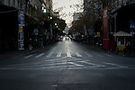 Athens, Greece, January 22, 2015. Closed streets in the greek capital before the final political rally three days ahead of the elections.