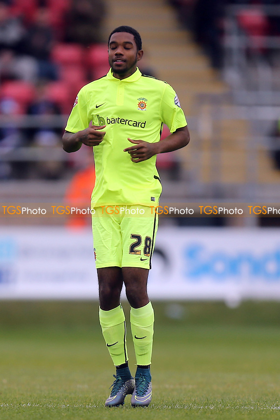 /Jason Banton of Hartlepool during Dagenham and Redbridge vs Hartlepool United, Sky Bet League 2 Football at the Chigwell Construction Stadium, London, England on 17/10/2015