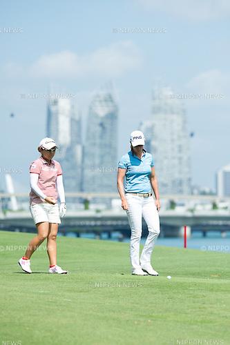 02 Mar 2013, Singapore Sentosa Golf Club, HSBC Women's Champions 2013, Mika Miyazato, photo by Haruhiko Otsuka / AFLO..Giulia Sergas of Itlay