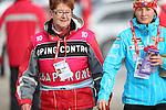 IBU Biathlon World Cup<br /> &copy; Pierre Teyssot <br />  Veronika Vitkova and her chaperon during the IBU Biathlon World Cup