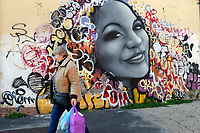 Title unknown, Artist  Unknown<br /> Rome February 7th 2019. Street Art in Rome, Ostiense<br /> district. Very important writers painted Murales in various districts of Rome to tell stories about the city, to commemorate important moments, to embellish the quarter or simply to portray it.  <br /> Photo Samantha Zucchi Insidefoto
