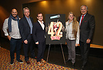 "Gio Messale, Tom Kinney, Hal Berman, Bonnie Comley and Stewart F. Lane attend the BroadwayHD's ""42nd Street"" Screening at the AMC Empire 25 Theatres on April 16, 2019 in New York City."