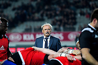 France head coach Jacques Brunel during the Steinlager Series international rugby match between the New Zealand All Blacks and France at Eden Park in Auckland, New Zealand on Saturday, 9 June 2018. Photo: Dave Lintott / lintottphoto.co.nz