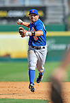 10 March 2012: New York Mets infielder Omar Quintanilla in action during a Spring Training game against the Washington Nationals at Space Coast Stadium in Viera, Florida. The Nationals defeated the Mets 8-2 in Grapefruit League play. Mandatory Credit: Ed Wolfstein Photo