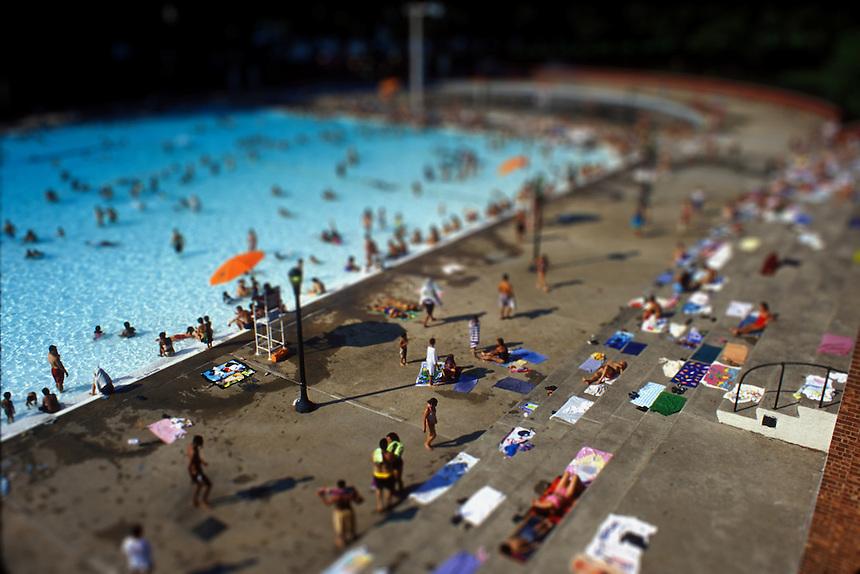 A pool in Astoria Queens, New York Summer 2003