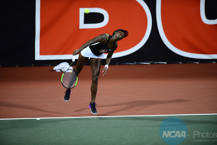 ATHENS, GA - MAY 23: Melissa Lord of Stanford University takes on the University of Florida during the Division I Women's Tennis Championship held at the Dan Magill Tennis Complex on the University of Georgia campus on May 23, 2017 in Athens, Georgia. (Photo by Steve Nowland/NCAA Photos via Getty Images)
