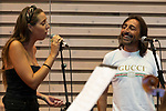 Spanish singer Antonio Carmona (R) and his daughter Marina during the press conference and rehearsal of Festival Unicos. September 24, 2019. (ALTERPHOTOS/Johana Hernandez)