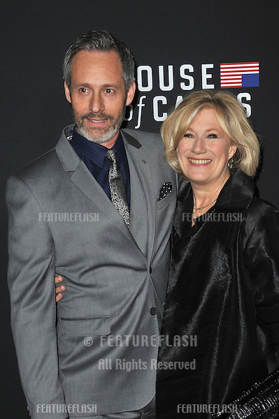 Michel Gill &amp; wife Jayne Atkinson at the season two premiere of their Netflix series &quot;House of Cards&quot; at the Directors Guild Theatre.<br /> February 13, 2014  Los Angeles, CA<br /> Picture: Paul Smith / Featureflash