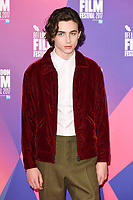 Timothee Chalamet at the London Film Festival 2017 photocall for the film &quot;Call Me by Your Name&quot; at the Mayfair Hotel, London, UK. <br /> 09 October  2017<br /> Picture: Steve Vas/Featureflash/SilverHub 0208 004 5359 sales@silverhubmedia.com