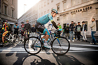Jakob Fuglsang (DEN/Astana) at the start of the race<br /> <br /> 113th Il Lombardia 2019 (1.UWT)<br /> 1 day race from Bergamo to Como (ITA/243km)<br /> <br /> ©kramon
