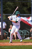 Eastern Michigan Eagles catcher Robert Iacobelli (49) at bat during a game against the Dartmouth Big Green on February 25, 2017 at North Charlotte Regional Park in Port Charlotte, Florida.  Dartmouth defeated Eastern Michigan 8-4.  (Mike Janes/Four Seam Images)