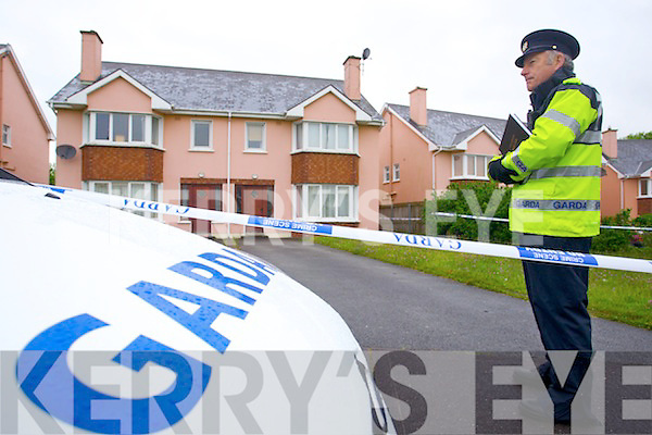 Garda John Twiss at the scene of the Double murder at Langford Downs Killorglin on Monday Morning