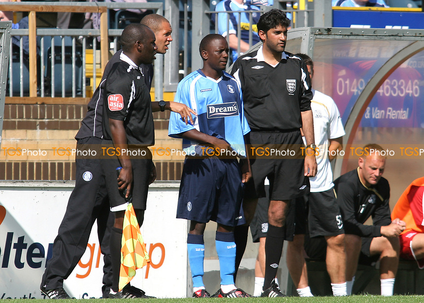 Nathan Ashton of Wycombe Wanderers, former Charlton and Fulham player who represented England at U19 level gets ready to come on as a second half substitute during Wycombe Wanderers vs Southend United, Friendly Match Football at Adams Park on 2nd August 2008