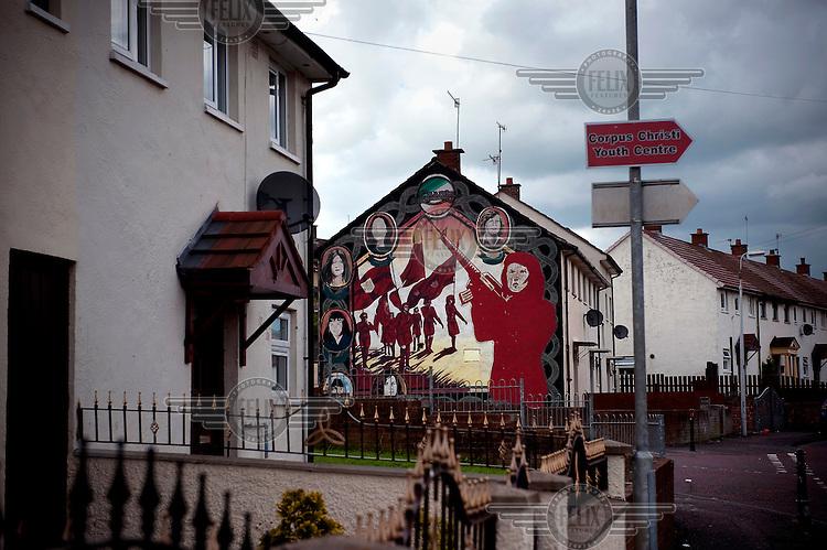 A Republican mural in a catholic part of Belfast...