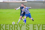 Atletico Ardfert's Pa Donegan and QPR's Aidan Donnelly.