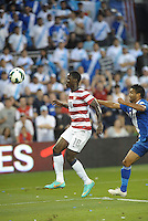 U.S midfielder Eddie Johnson  (18) in action..USMNT defeated Guatemala 3-1 in World Cup qualifying play at LIVESTRONG Sporting Park, Kansas City, KS.