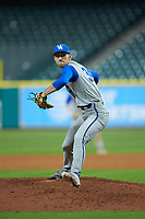 Kentucky Wildcats relief pitcher Carson Coleman (34) in action against the Houston Cougars in game two of the 2018 Shriners Hospitals for Children College Classic at Minute Maid Park on March 2, 2018 in Houston, Texas.  The Wildcats defeated the Cougars 14-2 in 7 innings.   (Brian Westerholt/Four Seam Images)