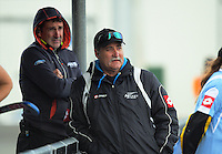 NZ coaches Sean Dancer and Mark Hager watch the international women's hockey match between the New Zealand Black Sticks and Malaysia at TET Stadium, Stratford, New Zealand on Thursday, 15 December 2016. Photo: Dave Lintott / lintottphoto.co.nz