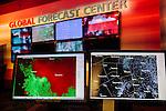 Various screens display radar in the newsroom at The Weather Channel in Atlanta, Georgia May 16, 2013.