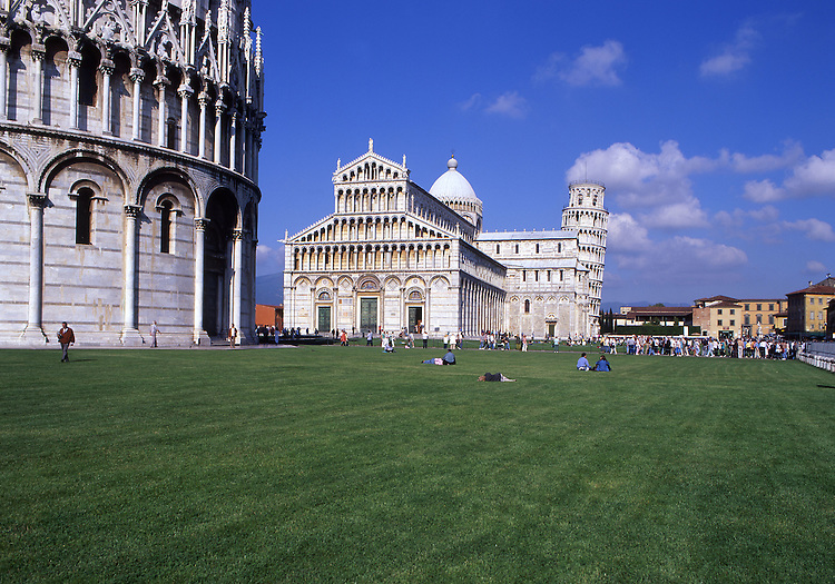 Europe, ITA, Italy, Tuscany, Pisa, Piazza del Duomo, Cathedral and the Leaning tower....[ For each utilisation of my images my General Terms and Conditions are mandatory. Usage only against use message and proof. Download of my General Terms and Conditions under http://www.image-box.com or ask for sending. A clearance before usage is necessary...Material is subject to royalties. Each utilisation of my images is subject to a fee in accordance to the present valid MFM-List...Contact   archive@image-box.com   www.image-box.com ]