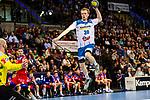 Sascha Pfattheicher (TVB 1898 Stuttgart #30) ; Mike Jensen (HBW Balingen-Weilstetten #20) beim Spiel in der Handball Bundesliga, TVB 1898 Stuttgart - HBW Balingen-Weilstetten.<br /> <br /> Foto © PIX-Sportfotos *** Foto ist honorarpflichtig! *** Auf Anfrage in hoeherer Qualitaet/Aufloesung. Belegexemplar erbeten. Veroeffentlichung ausschliesslich fuer journalistisch-publizistische Zwecke. For editorial use only.